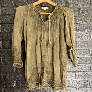Solitaire Tops - Solitare boho blouse size large